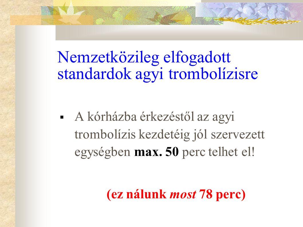 Nemzetközileg elfogadott standardok agyi trombolízisre