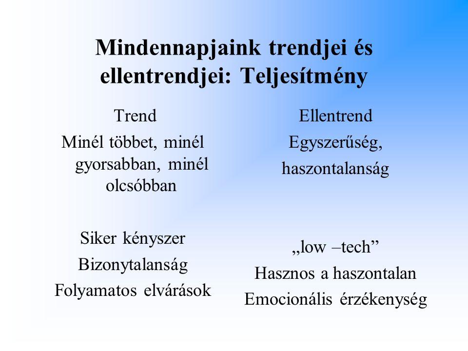 Mindennapjaink trendjei és ellentrendjei: Teljesítmény
