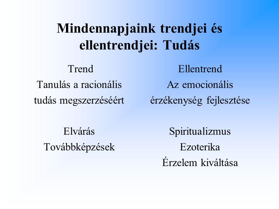 Mindennapjaink trendjei és ellentrendjei: Tudás
