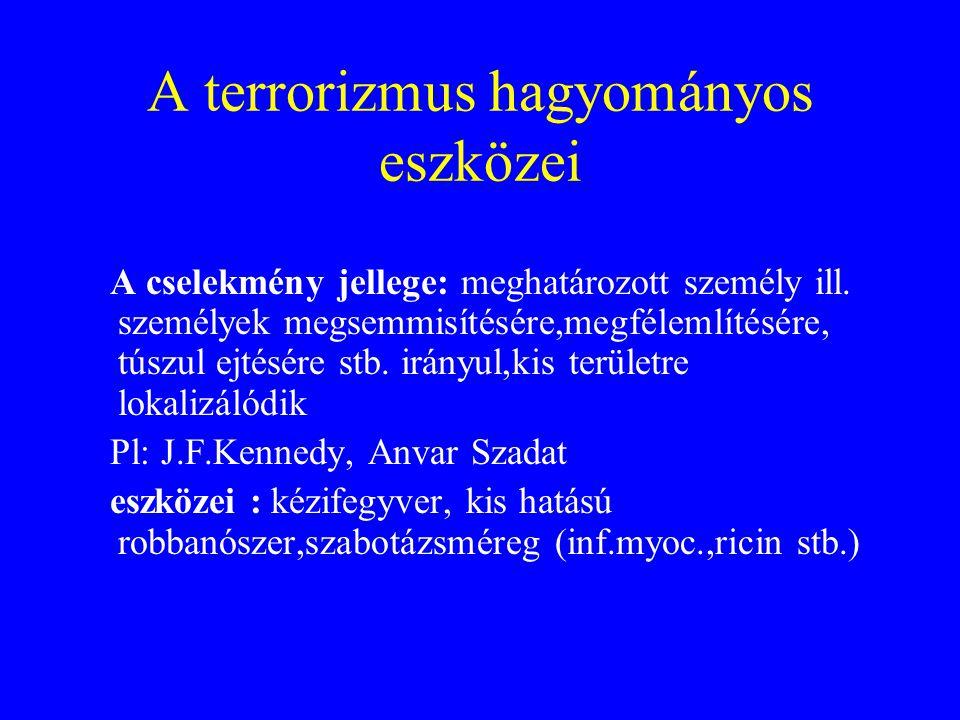 A terrorizmus hagyományos eszközei
