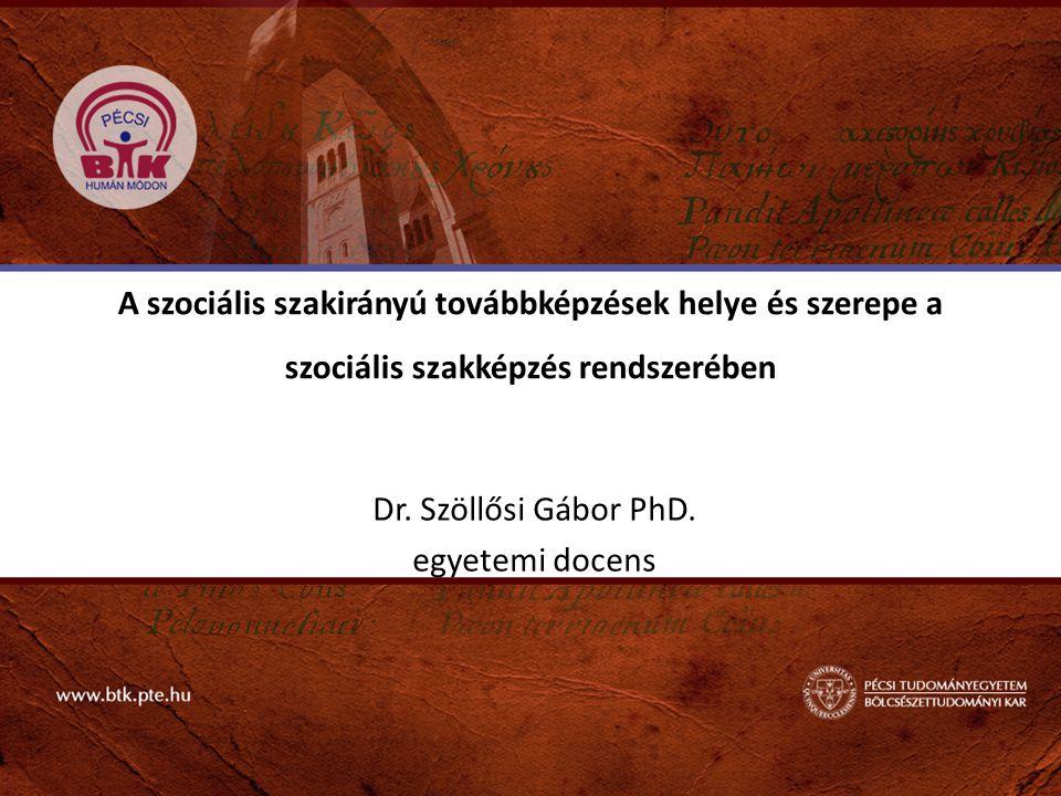 Dr. Szöllősi Gábor PhD. egyetemi docens