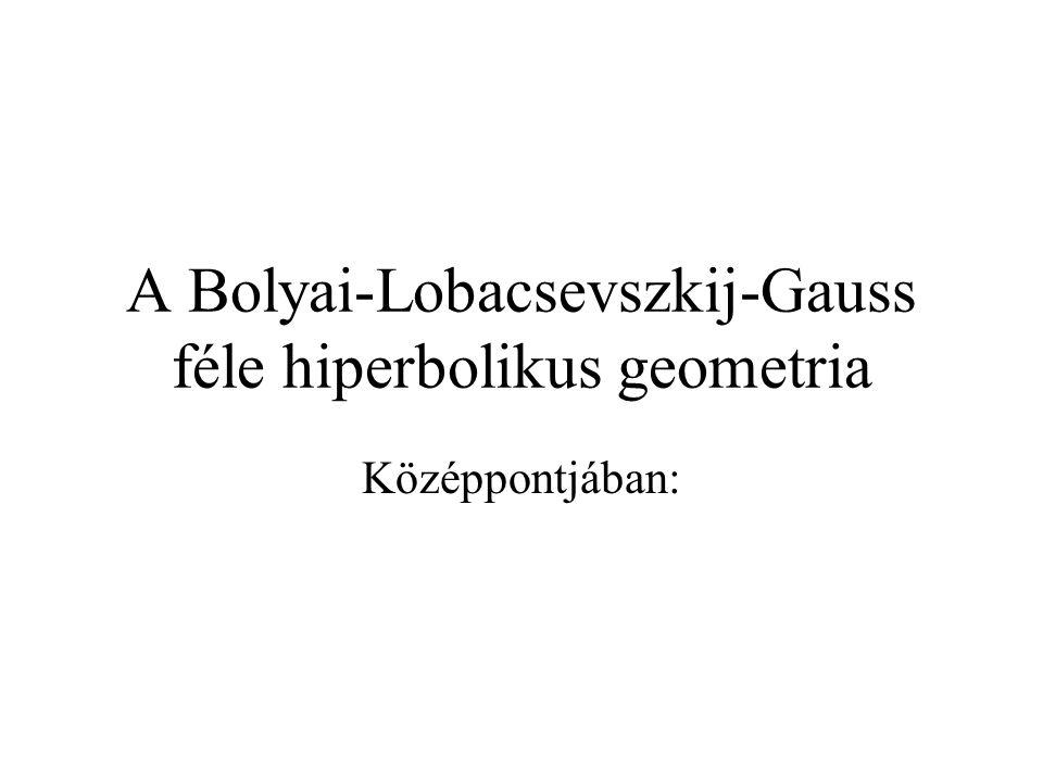 A Bolyai-Lobacsevszkij-Gauss féle hiperbolikus geometria