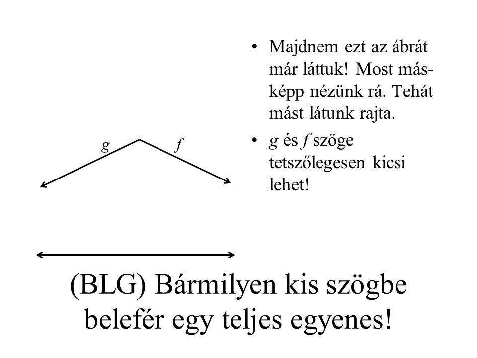 (BLG) Bármilyen kis szögbe belefér egy teljes egyenes!