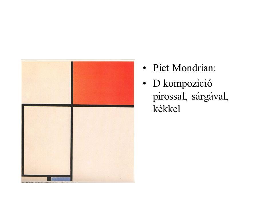 Piet Mondrian: D kompozíció pirossal, sárgával, kékkel