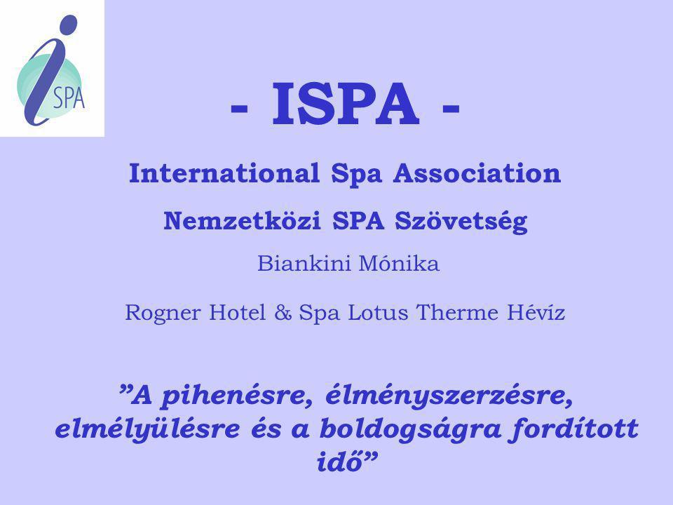 International Spa Association Nemzetközi SPA Szövetség