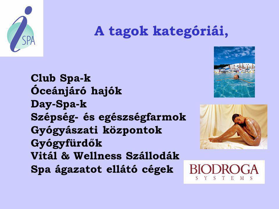 A tagok kategóriái, Club Spa-k Óceánjáró hajók Day-Spa-k