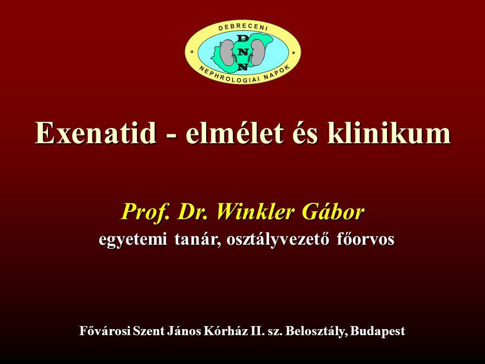 Exenatid - elmélet és klinikum