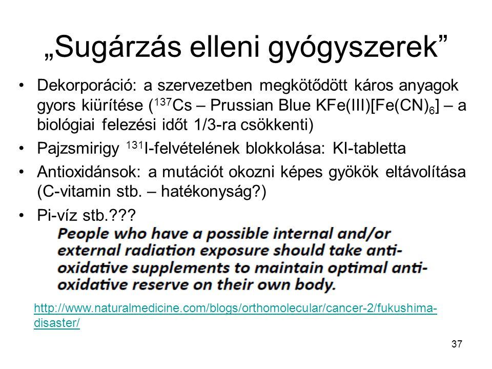 """""""Sugárzás elleni gyógyszerek"""