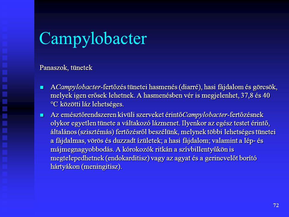 Campylobacter Panaszok, tünetek