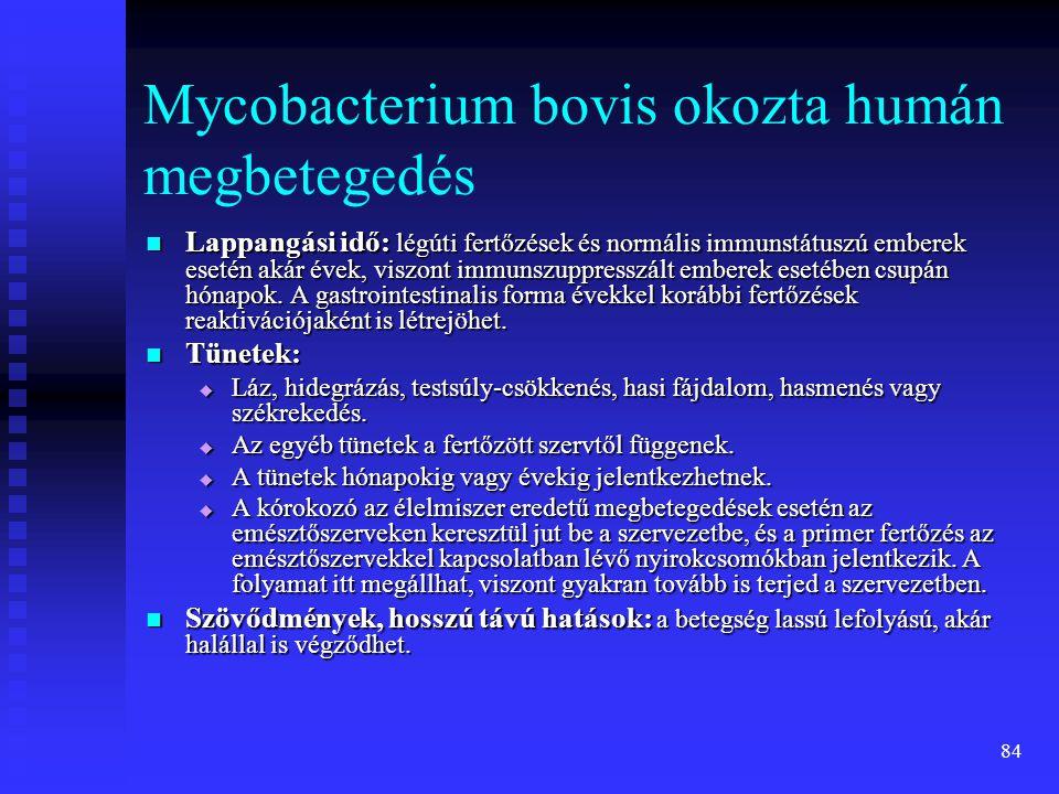 Mycobacterium bovis okozta humán megbetegedés