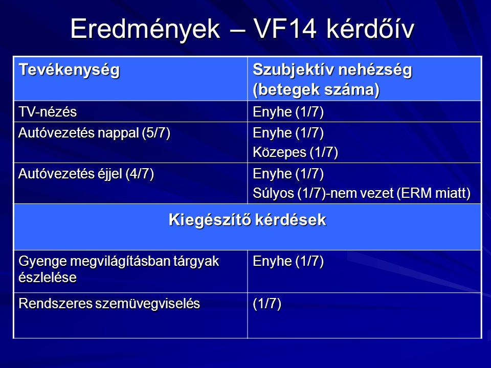 Eredmények – VF14 kérdőív