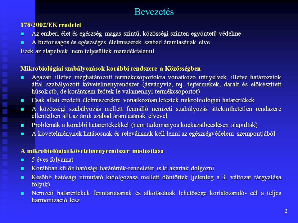 Bevezetés 178/2002/EK rendelet