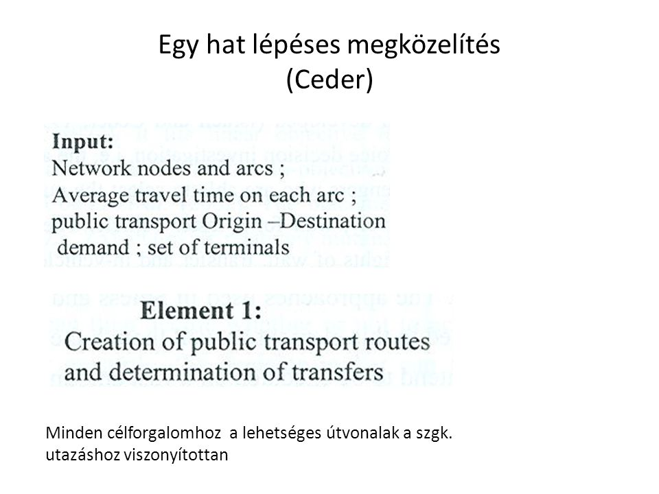 Egy hat lépéses megközelítés (Ceder)