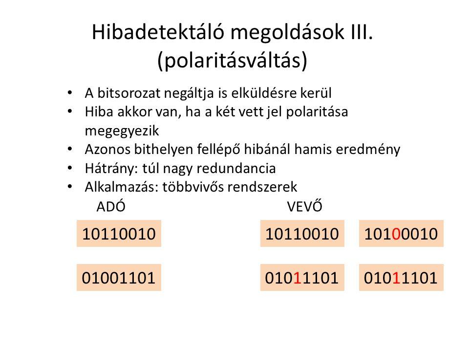 Hibadetektáló megoldások III. (polaritásváltás)