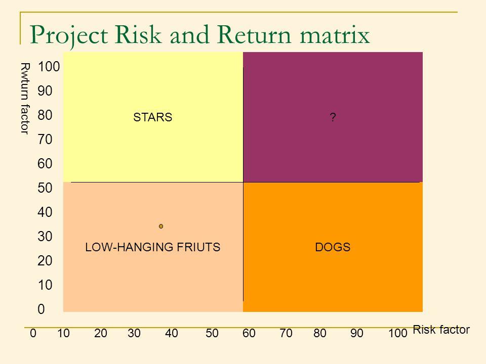 Project Risk and Return matrix