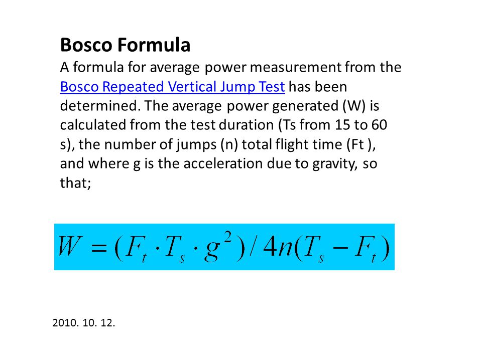 Bosco Formula