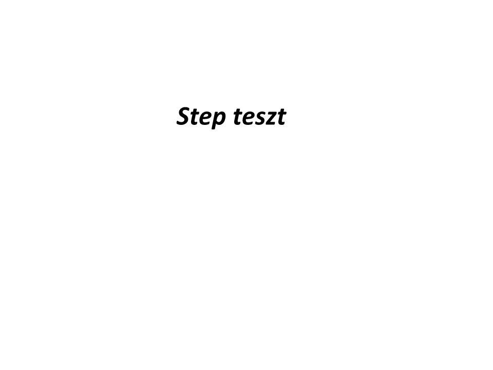Step teszt