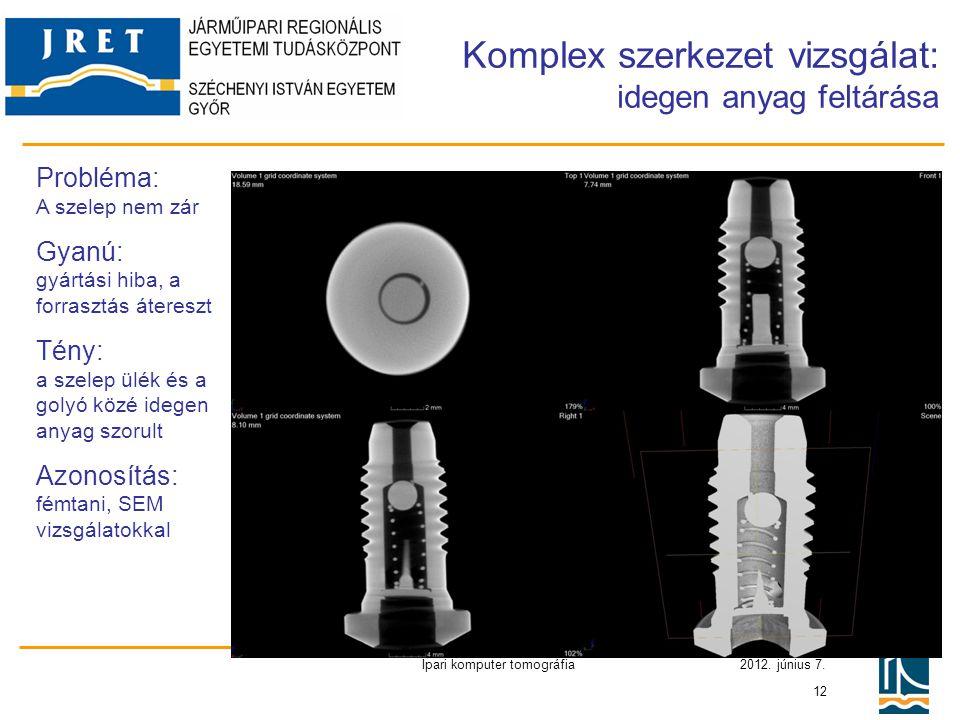 Komplex szerkezet vizsgálat: idegen anyag feltárása