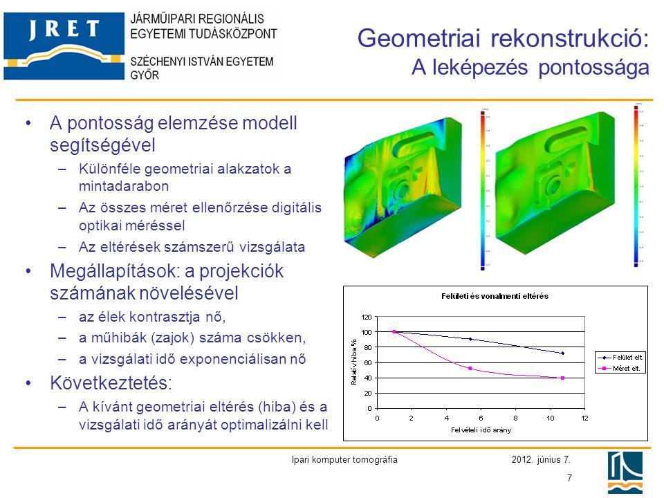 Geometriai rekonstrukció: A leképezés pontossága
