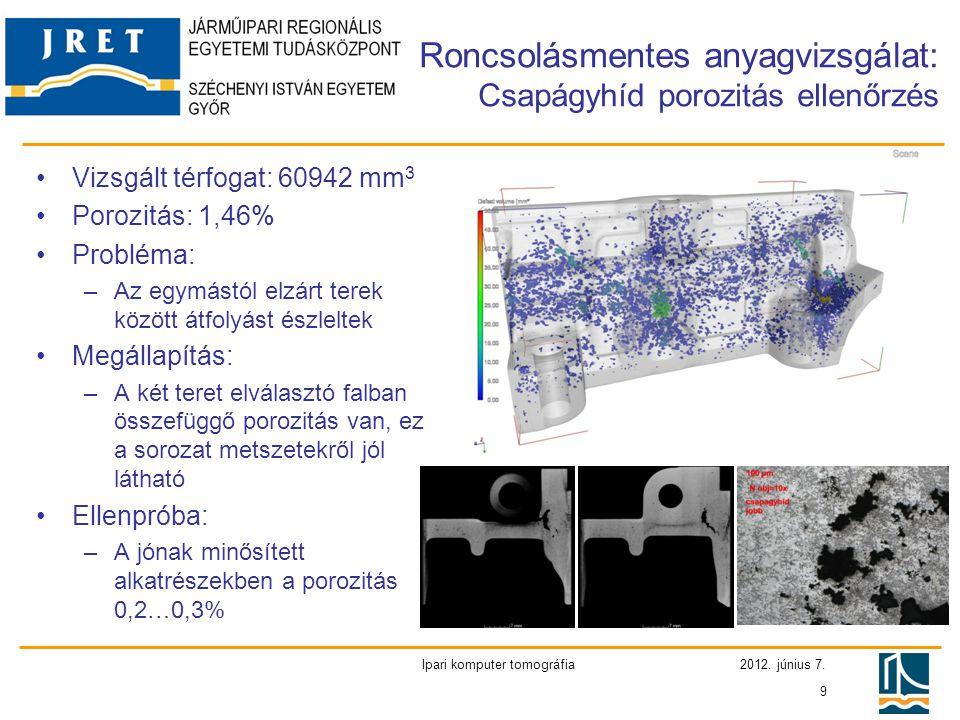 Roncsolásmentes anyagvizsgálat: Csapágyhíd porozitás ellenőrzés
