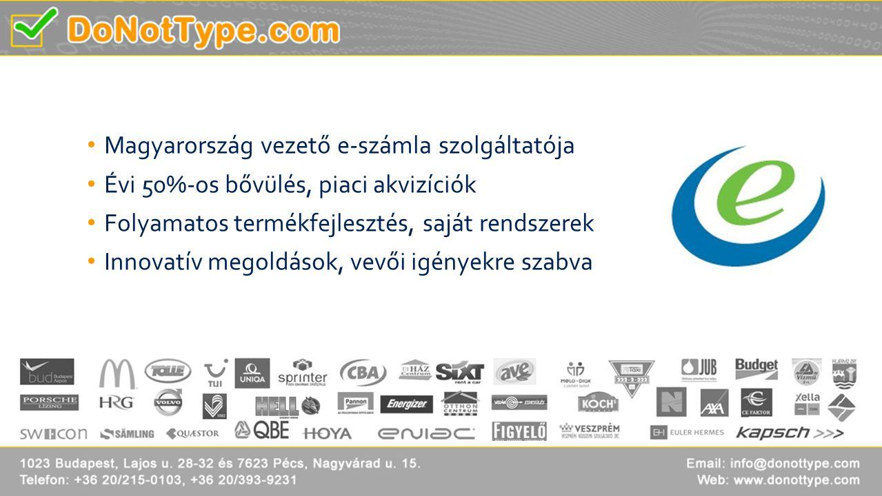 Magyarország vezető e-számla szolgáltatója
