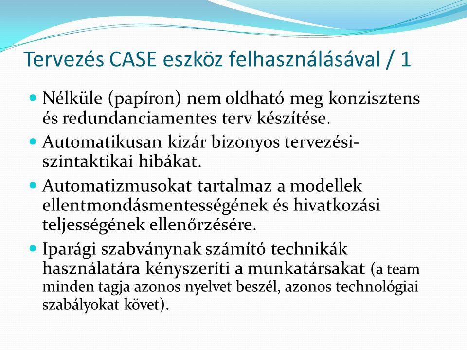 Tervezés CASE eszköz felhasználásával / 1