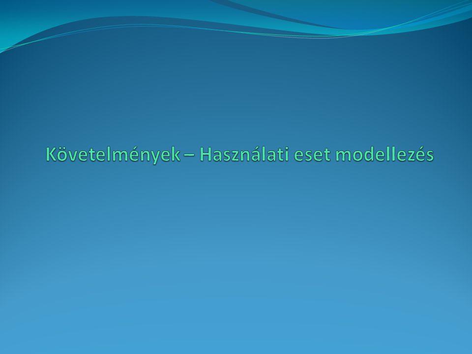 Követelmények – Használati eset modellezés