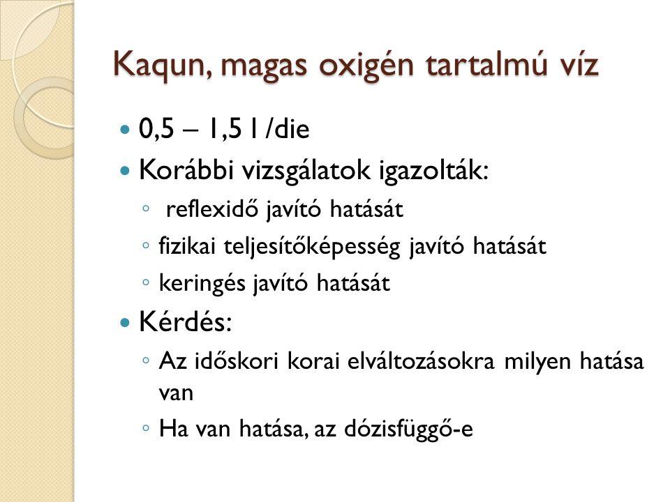 Kaqun, magas oxigén tartalmú víz