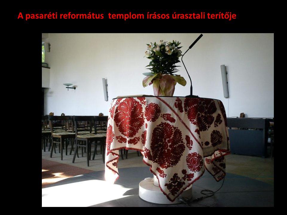 A pasaréti református templom írásos úrasztali terítője