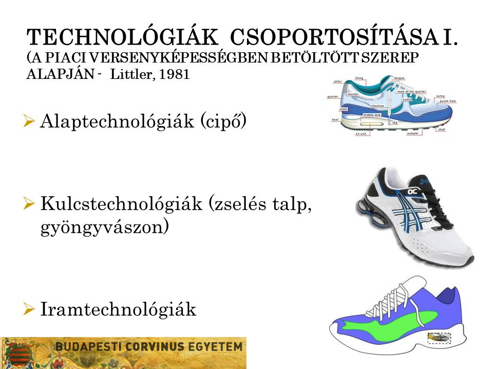 TECHNOLÓGIÁK CSOPORTOSÍTÁSA I