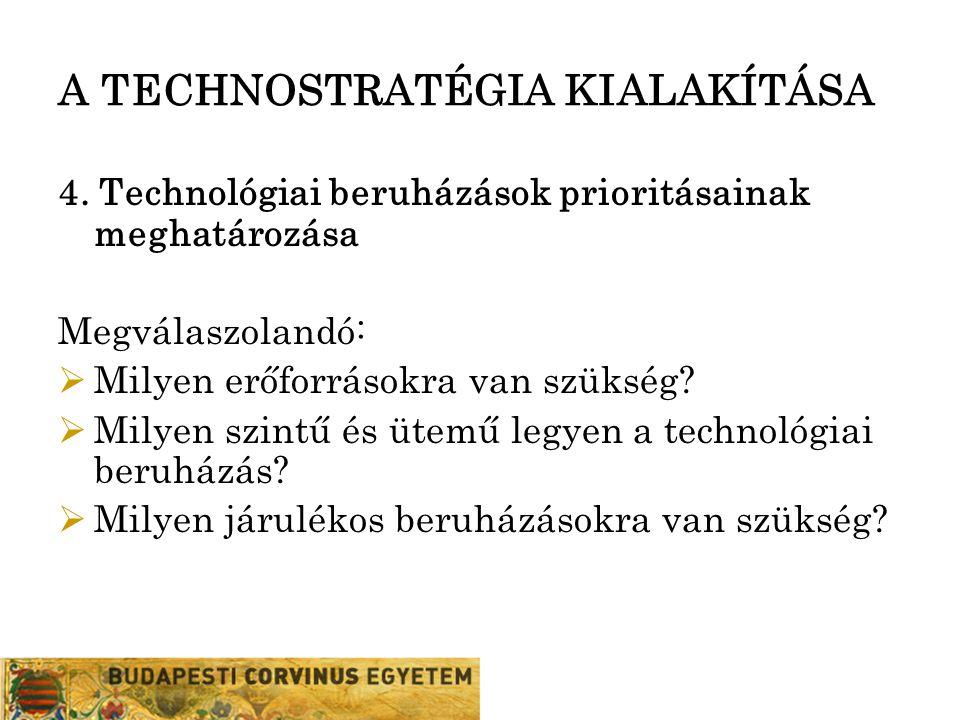 A TECHNOSTRATÉGIA KIALAKÍTÁSA