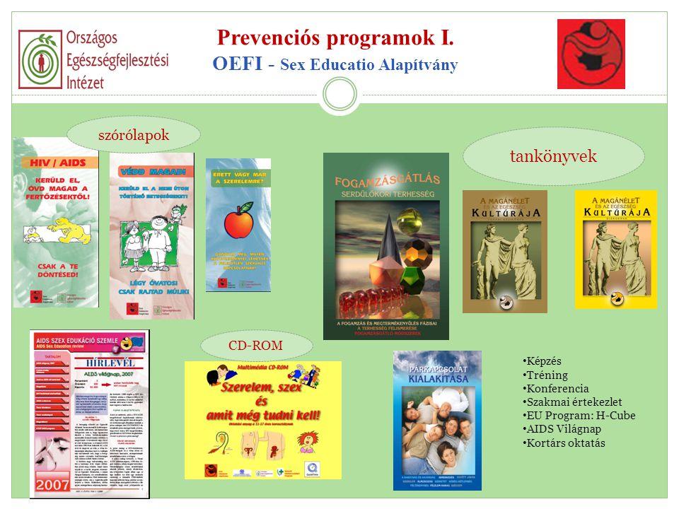 Prevenciós programok I. OEFI - Sex Educatio Alapítvány