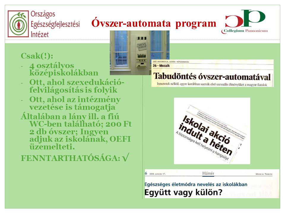 Óvszer-automata program