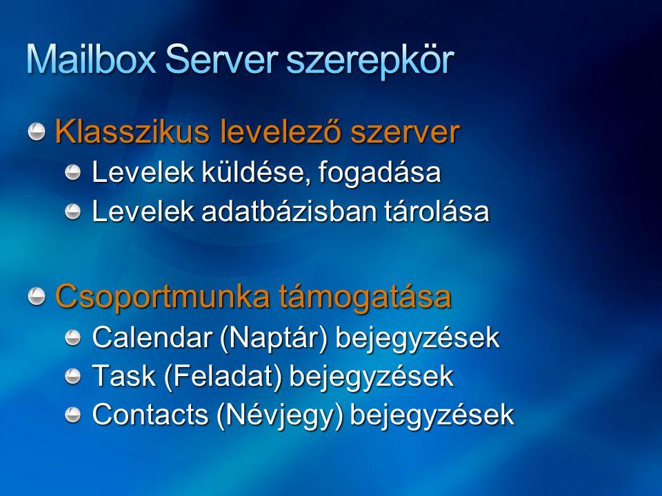 Mailbox Server szerepkör