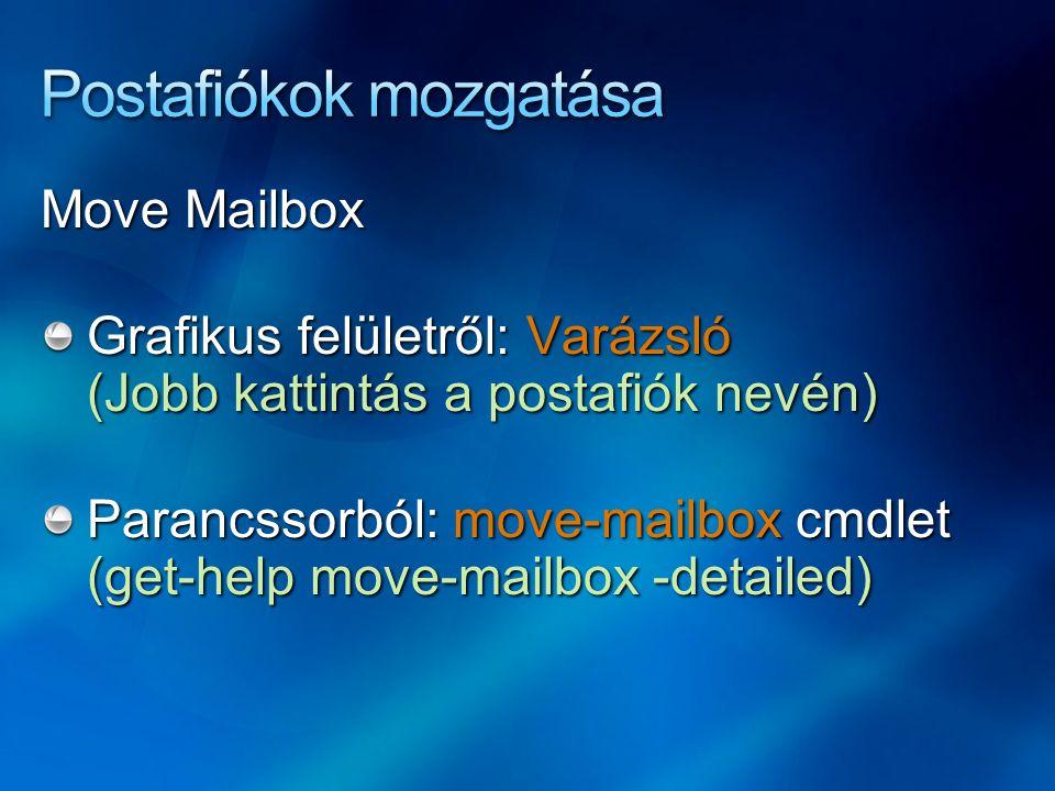 Postafiókok mozgatása