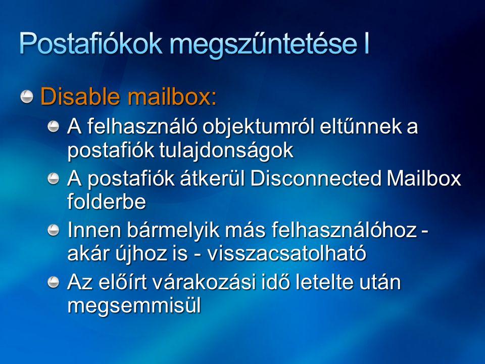 Postafiókok megszűntetése I