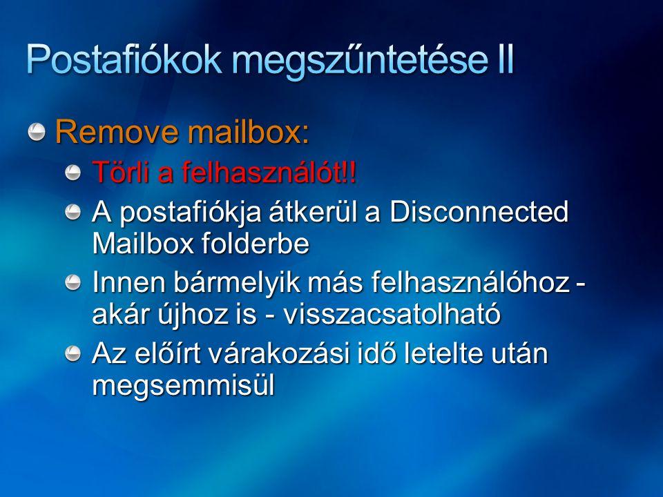 Postafiókok megszűntetése II
