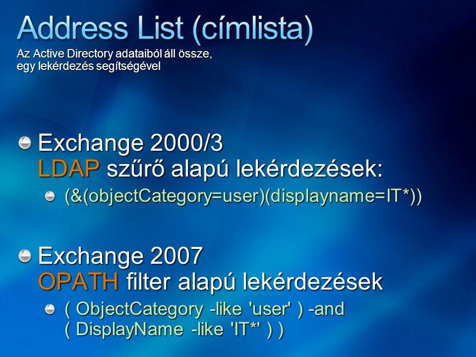 Address List (címlista)