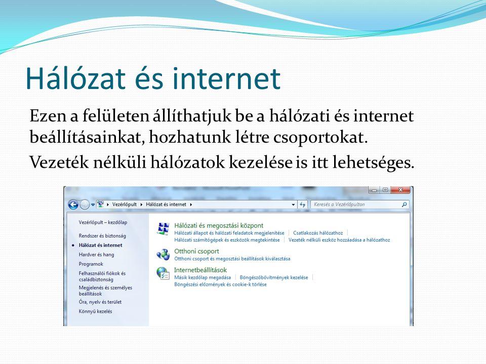 Hálózat és internet