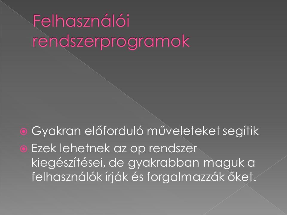 Felhasználói rendszerprogramok