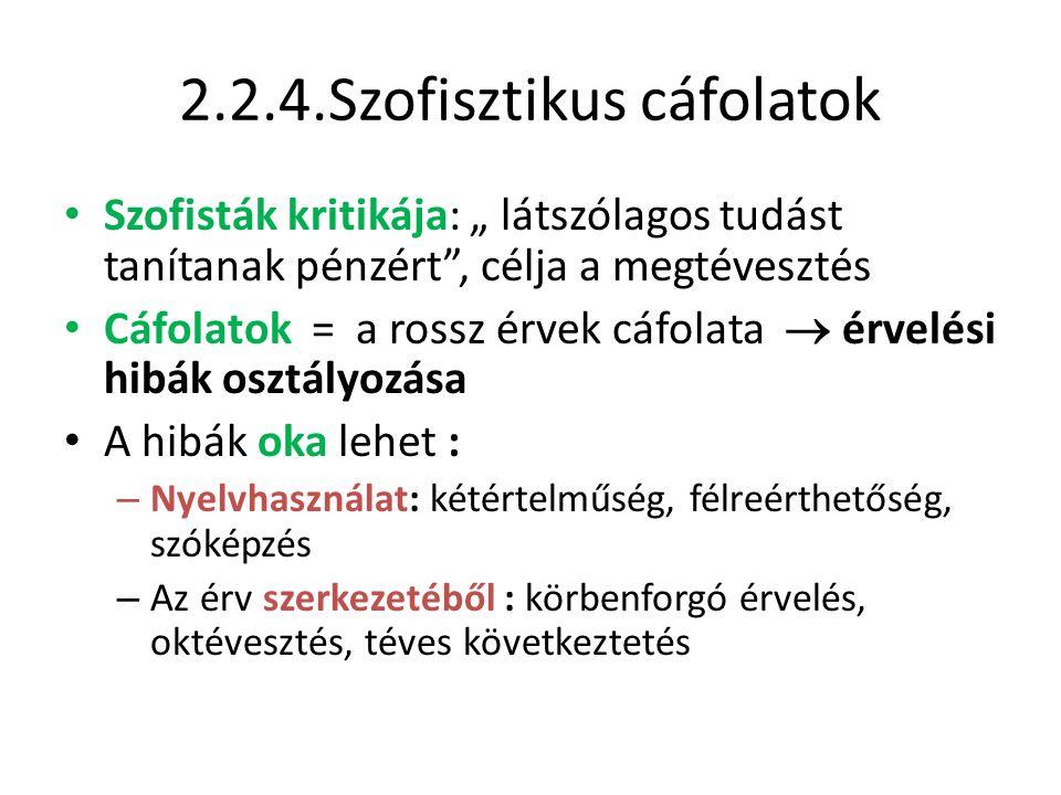 2.2.4.Szofisztikus cáfolatok