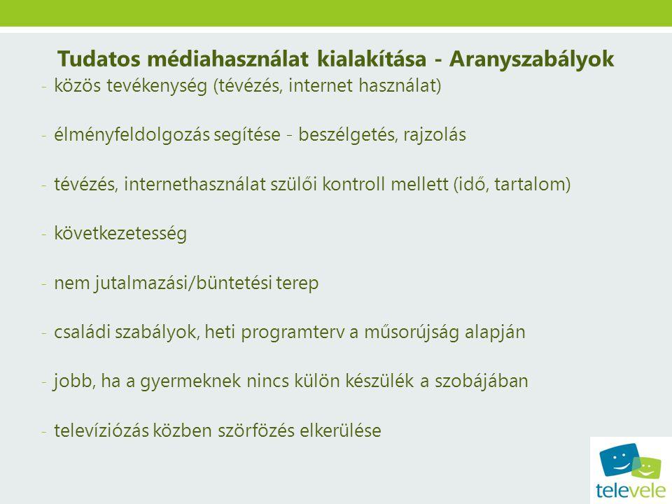 Tudatos médiahasználat kialakítása - Aranyszabályok