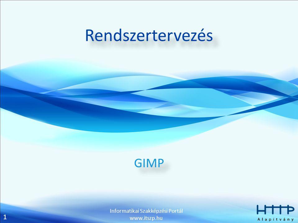 Rendszertervezés GIMP