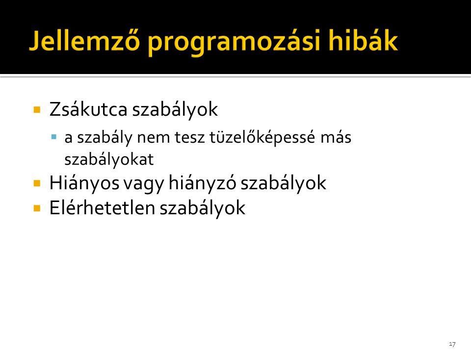 Jellemző programozási hibák