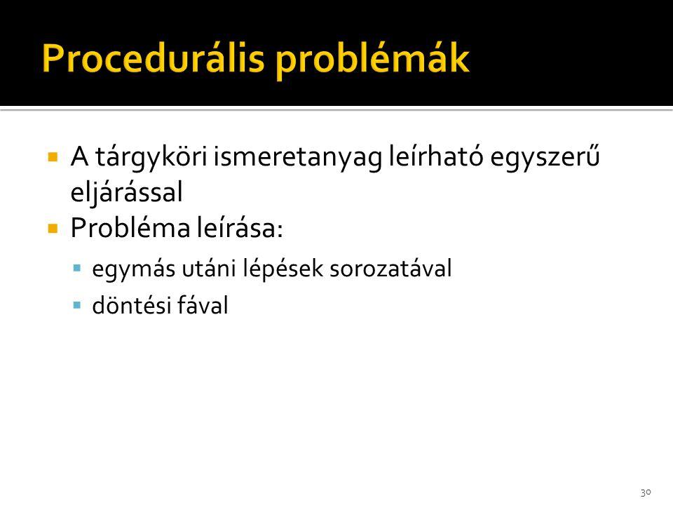 Procedurális problémák