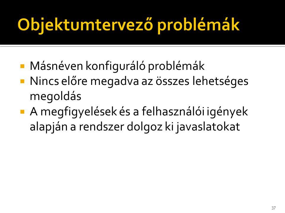 Objektumtervező problémák