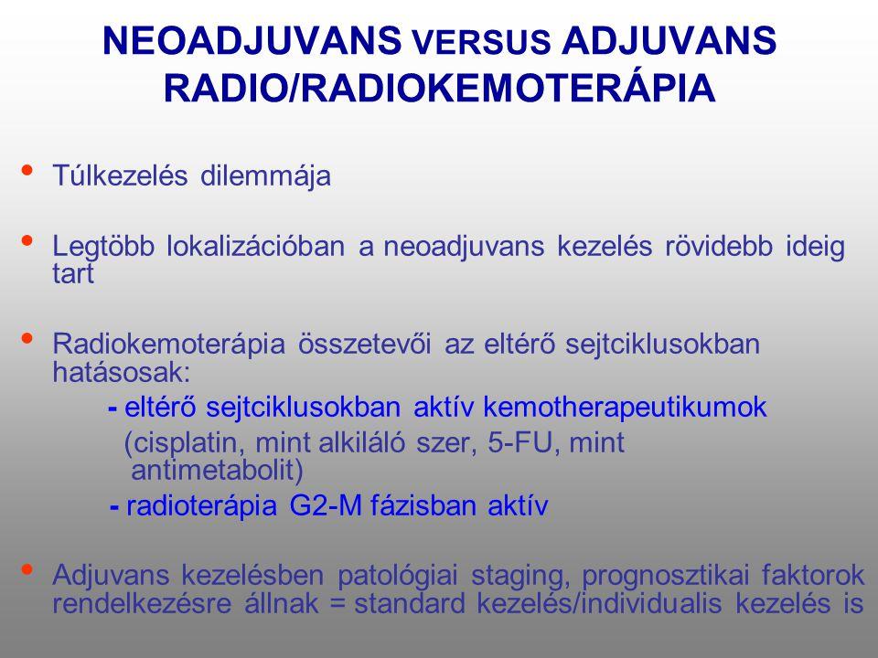 NEOADJUVANS VERSUS ADJUVANS RADIO/RADIOKEMOTERÁPIA