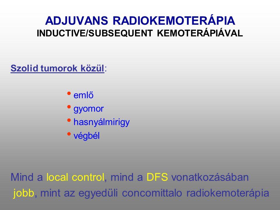 ADJUVANS RADIOKEMOTERÁPIA INDUCTIVE/SUBSEQUENT KEMOTERÁPIÁVAL