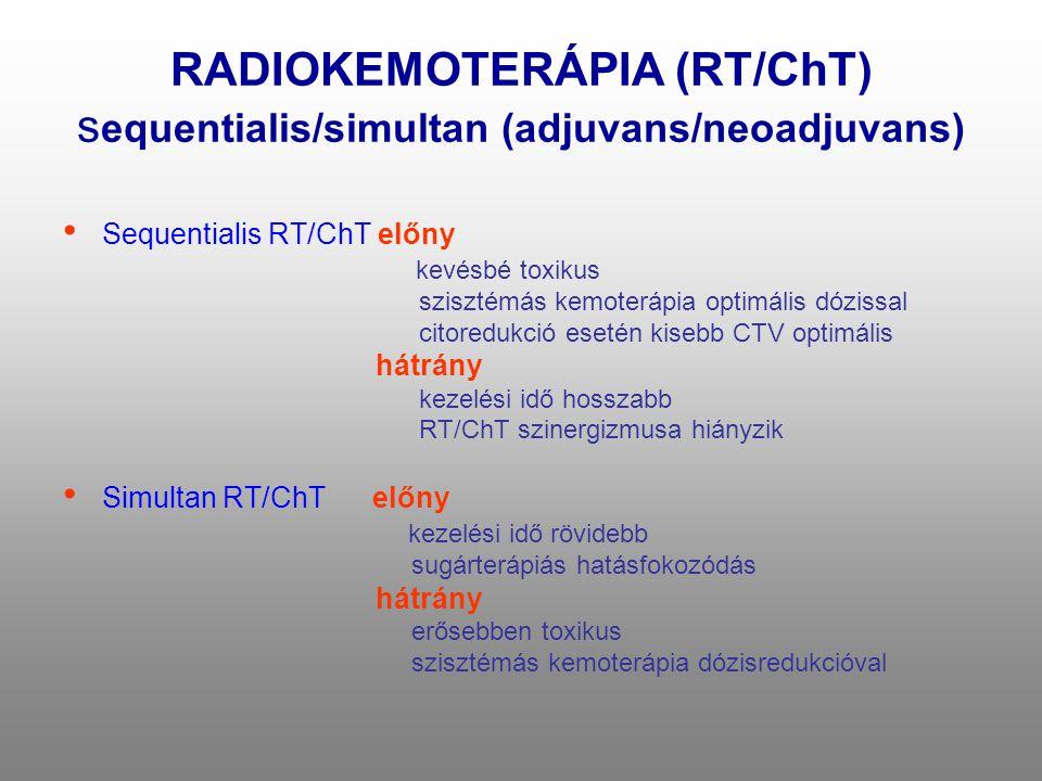 RADIOKEMOTERÁPIA (RT/ChT) sequentialis/simultan (adjuvans/neoadjuvans)