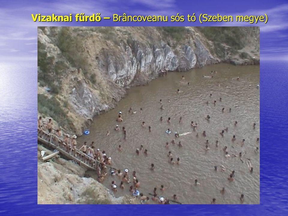 Vizaknai fűrdő – Brâncoveanu sós tó (Szeben megye)